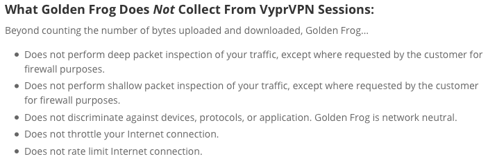 VyprVPN privacy policy 2